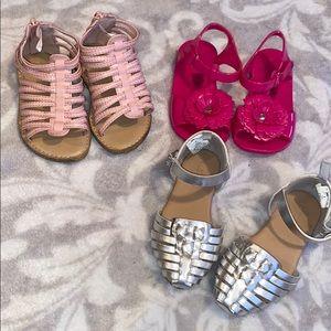 3 pair Sandals